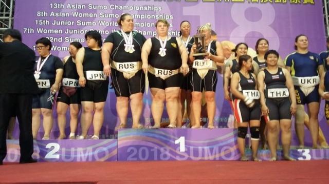 Россия взяла 7 из 10 золотых медалей в чемпионате мира по сумо (3 фото)