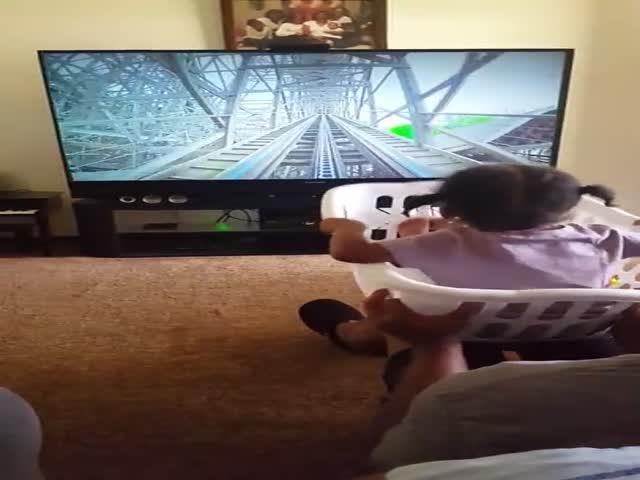 Когда ребенок очень хотел прокатиться на американских горках