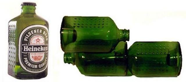 Необычная форма бутылки пива от Альфреда Хейнекена, которая должна была изменить мир (6 фото)