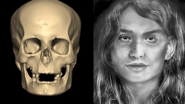 Студентка восстановила внешность коренной жительницы Канарских островов из племени гуанчи (5 фото + видео)