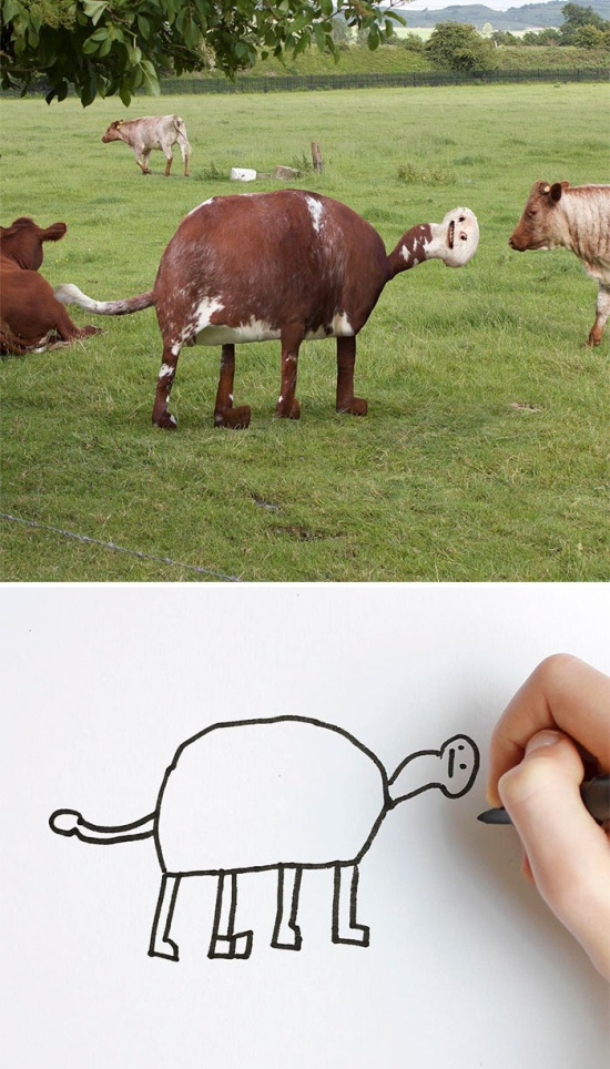 Детские рисунки в реальной жизни (20 фото)