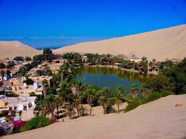 Уакачина - удивительный оазис в Перу (7 фото)