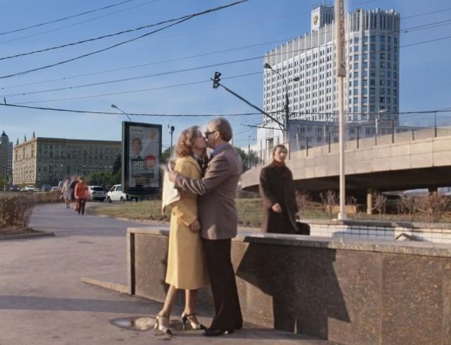Москва из советских кинофильмов и современный мегаполис 2018 года (14 фото)