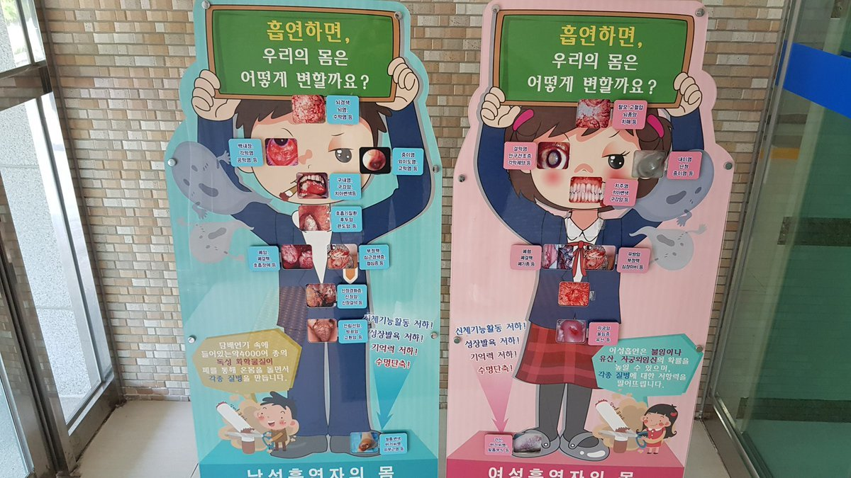 Антитабачные плакаты в школах Южной Кореи (3 фото)