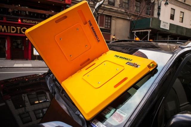 Вакуумный блокиратор лобового стекла для нарушителей правил парковки (5 фото)