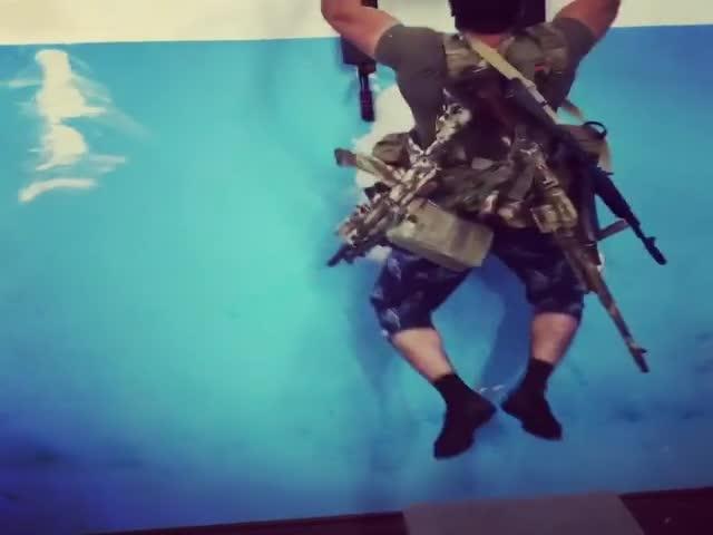 Челлендж: подтягивания со снаряжением