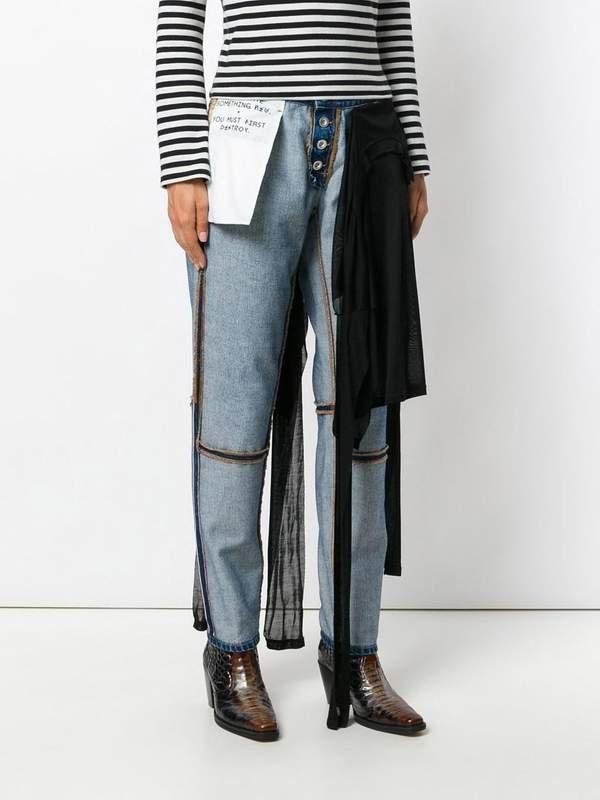 Новый тренд: вывернутые наизнанку джинсы (3 фото)