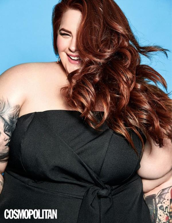 Модель с весом в полтора центнера попала на обложку Cosmopolitan (3 фото)
