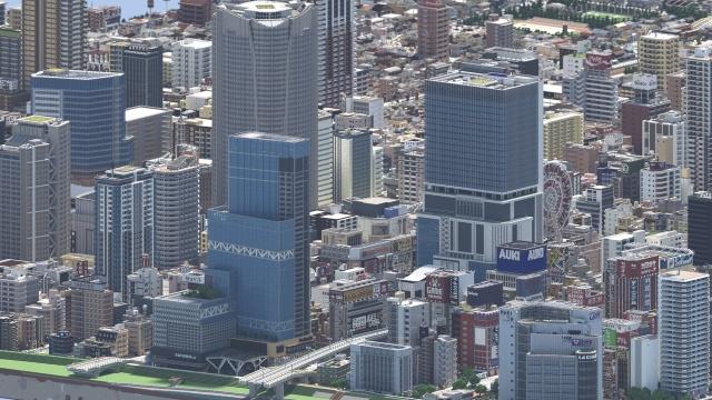 Японский геймер построил удивительно детализированный мегаполис в Minecraft (4 фото)