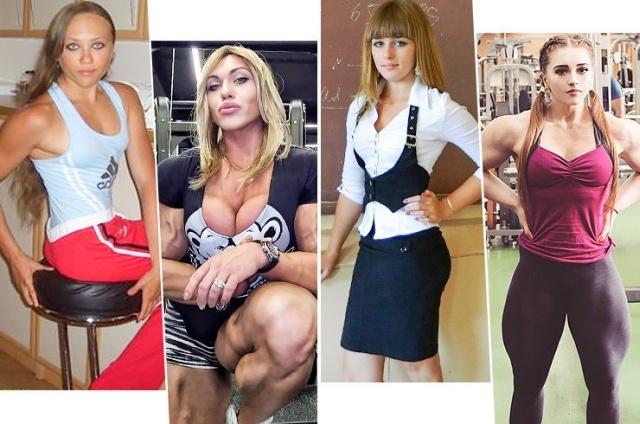 Какими были самые сильные женщины до начала тренировок (7 фото)