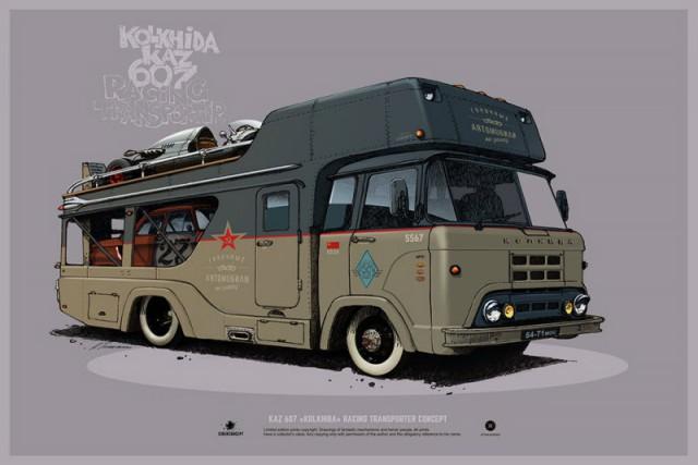 Потрясающие концептуальные авто художника Андрея Ткаченко (30 фото)
