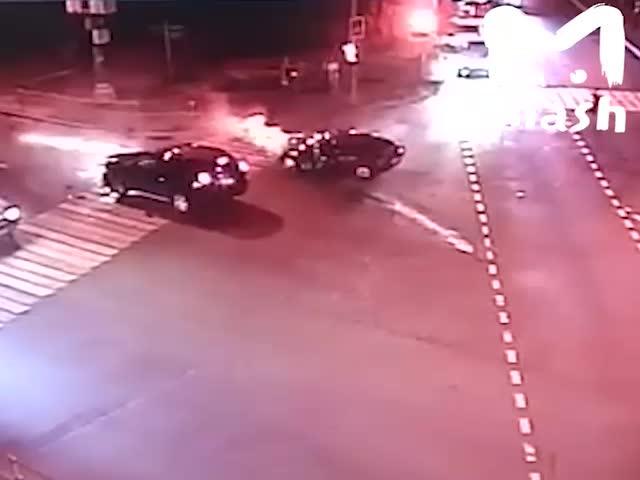 Серьезная авария на юго-востоке Москвы