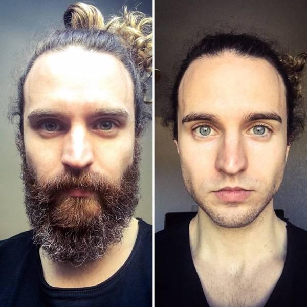 С бородой и без (19 фото)