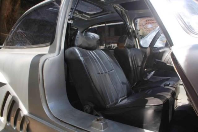 Самодельный Mercedes-Benz 300SL из старого купе W114 (10 фото)