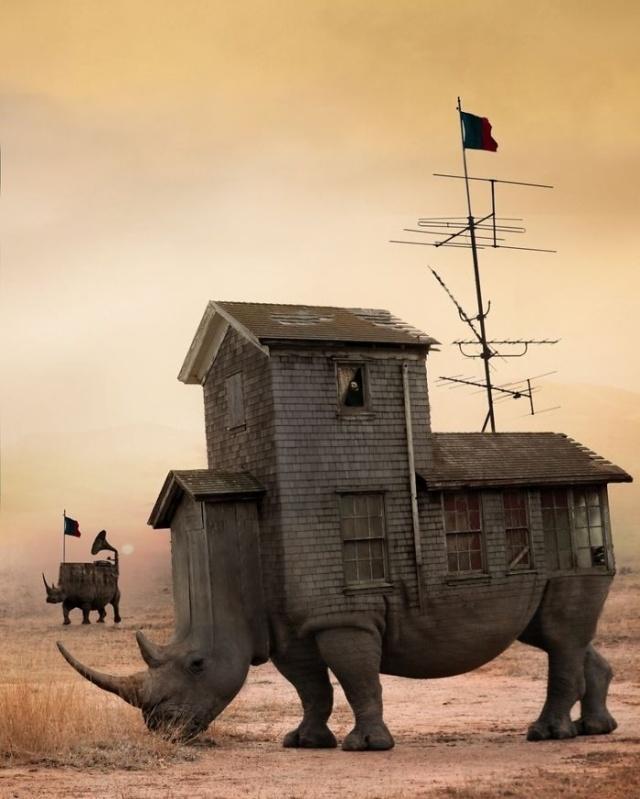Слияние мира фэнтези и реальности в работах польского иллюстратора (21 фото)