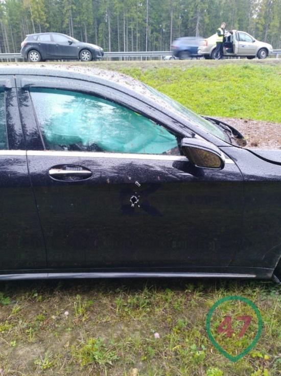 Предприниматель Бадри Шенгелии был застрелен на трассе под Санкт-Петербургом (8 фото)