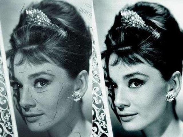 Как ретушировали фотографии звезд Голливуда и знаменитостей до появления фотошопа (14 фото)