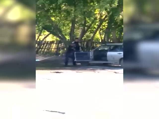 Когда полиция остановила пьяного водителя, но все пошло не по плану