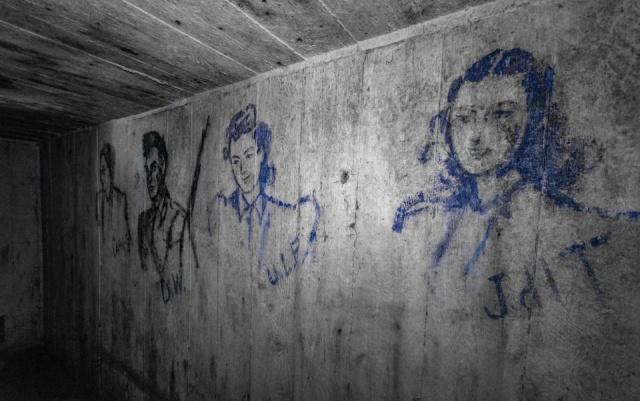 Портреты в бункере времен Второй мировой войны (9 фото)