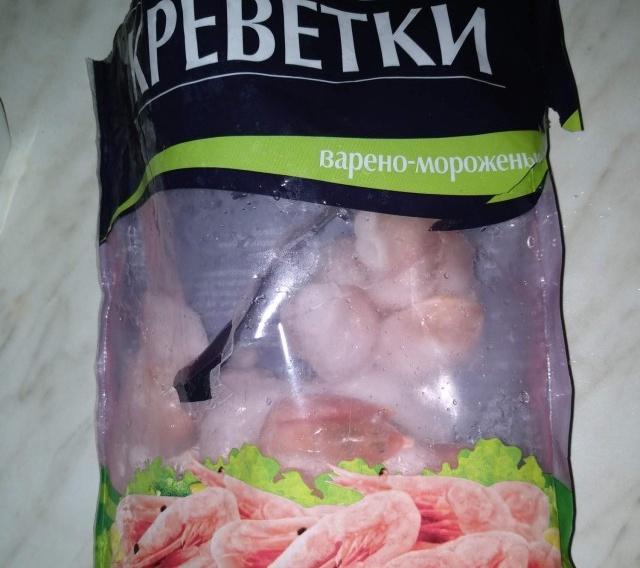 Замороженные креветки в упаковке из магазина (5 фото)