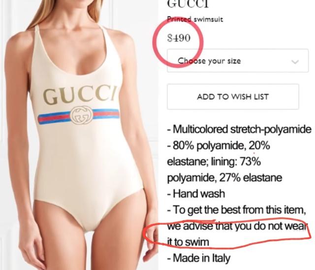 Купальник от Gucci за 490 долларов с одним важным недостатком (4 фото)