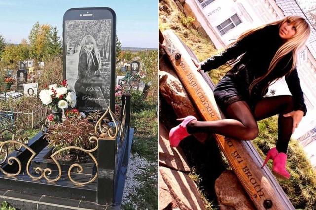 История памятника в виде iPhone на кладбище в Уфе получила продолжение (4 фото)