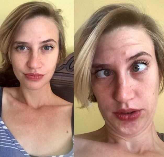 Девушки дурачатся и корчат рожи (29 фото)