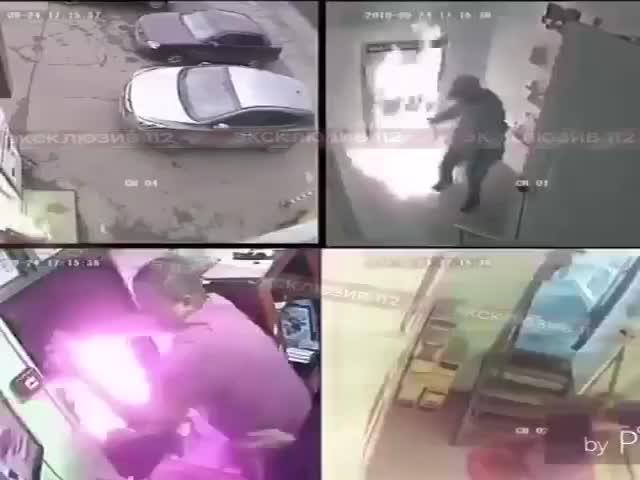 Недовольный покупатель облил прилавок в магазине бензином и поджег