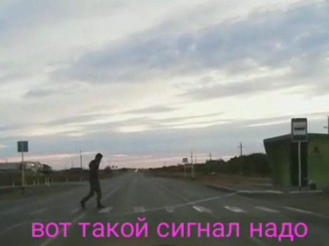 Автомобильный сигнал для неторопливых пешеходов