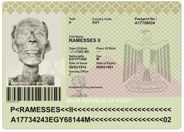Паспорт для фараона (3 фото)