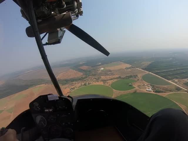 Аварийная посадка летательного аппарата из-за отказа двигателя