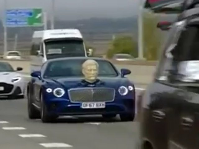 Джереми Кларксон прокатился по Грузии с бюстом Сталина на капоте
