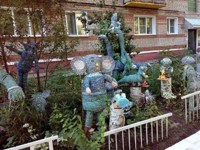 Дворовое искусство от жителей Нижнего Новгорода (4 фото)