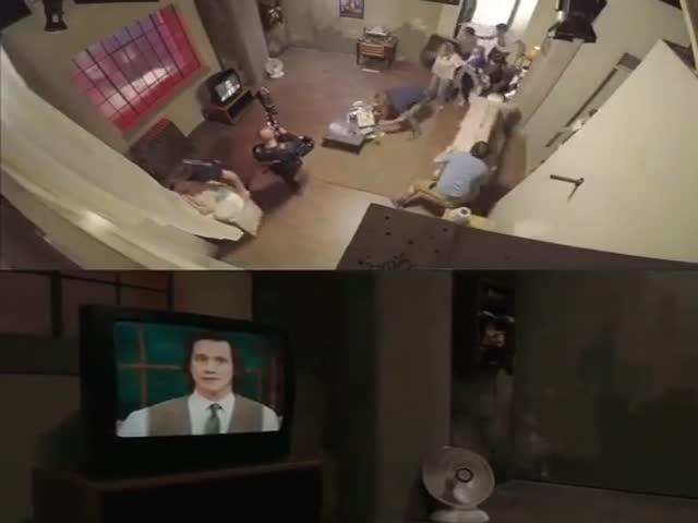 За кадром во время съемок одного из телевизионных шоу