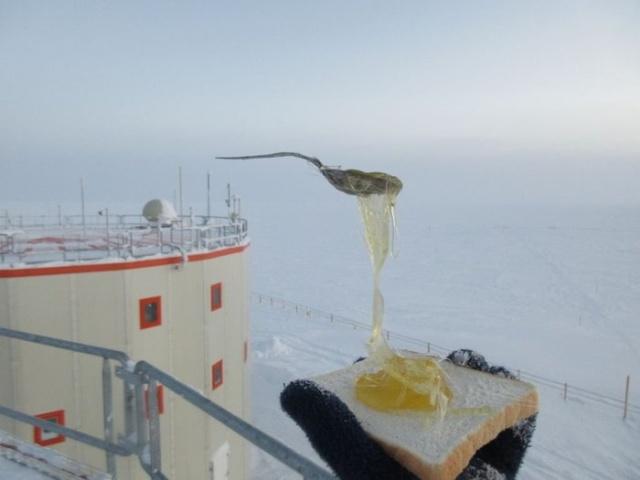 Еда на морозе в -60 градусов (6 фото)