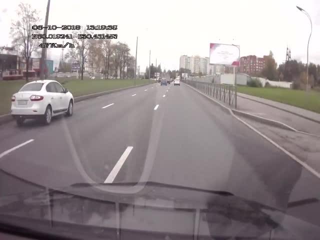 Достойный ответ на необоснованную агрессию на дороге