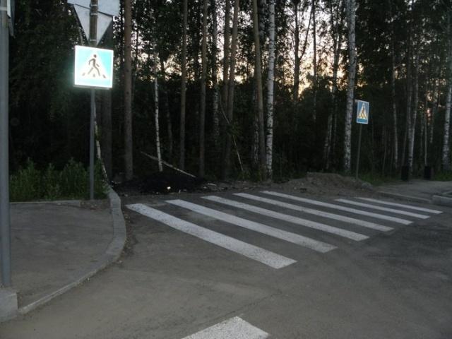 Пешеходный переход в Томске (2 фото)