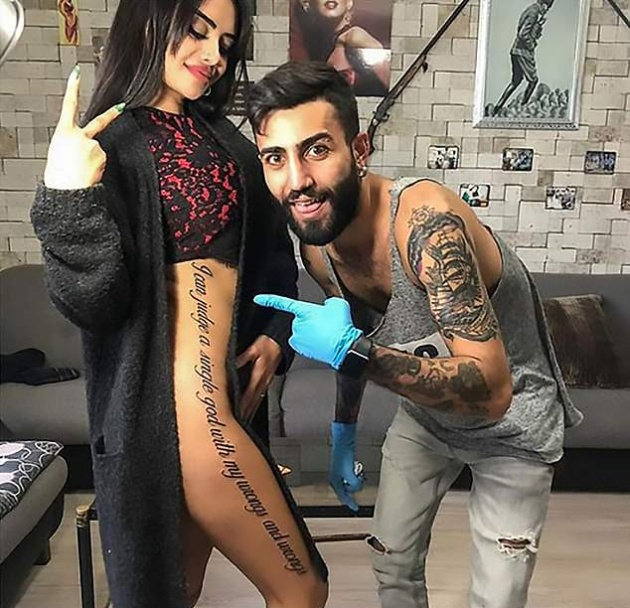 Instagram-звезда ошиблась с переводом для своей татуировки и опозорилась на весь мир (3 фото)
