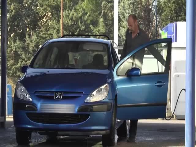 Когда помыл свой автомобиль на мойке