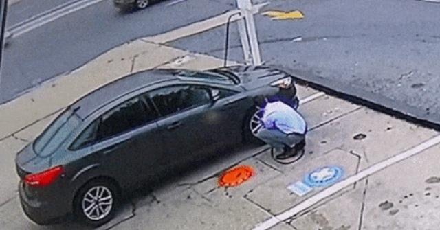 Взрыв автомобильной покрышки может оказаться действительно мощным (2 фото)