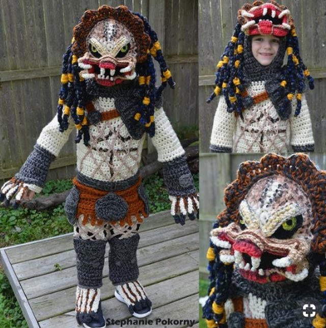 Вязанные крючком костюмы на Хэллоуин (8 фото)