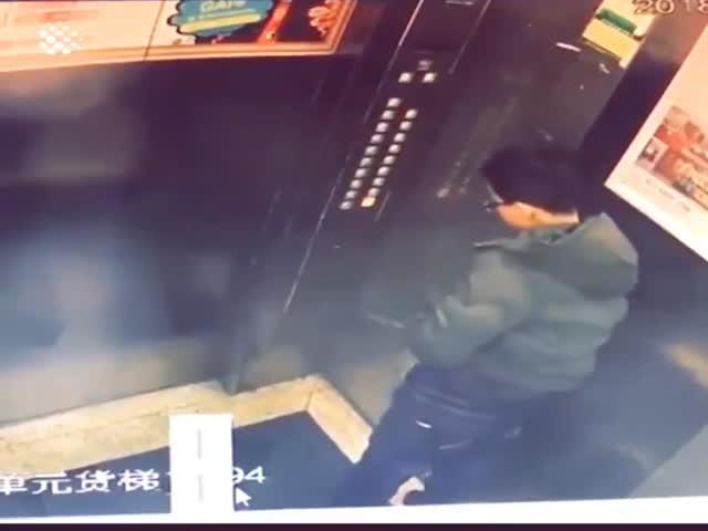 Когда у пассажира лифта совсем нет мозгов