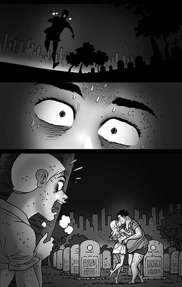 Пугающие комиксы, от которых становится не по себе (34 картинки)