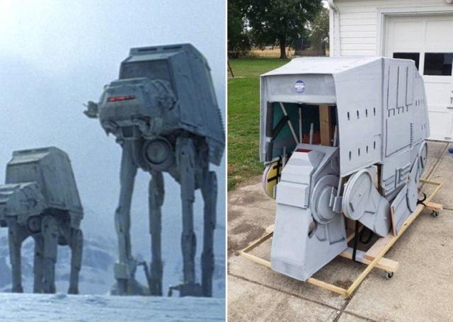 """Хозяин превратил свою лошадь в AT-AT Walker из """"Звездных войн"""" (6 фото)"""