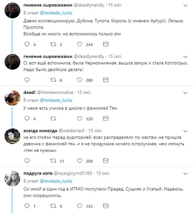 Пользователи сети посмеялись над самыми странными фамилиями (15 скриншотов)