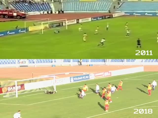 Футболист Роман Локтионов забил два идентичных гола с разницей в 7 лет