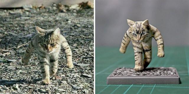Забавные фото и мемы с животными превращаются в скульптуры (19 фото)
