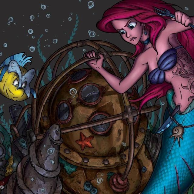 Афиши известных мультфильмов от Dead Brush (11 картинок)