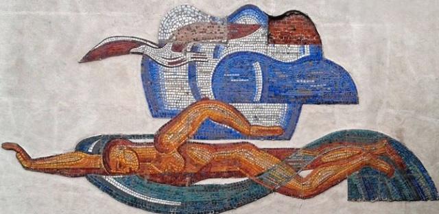 Было - стало: мозаика на бассейне в Нижнем Новгороде (3 фото)