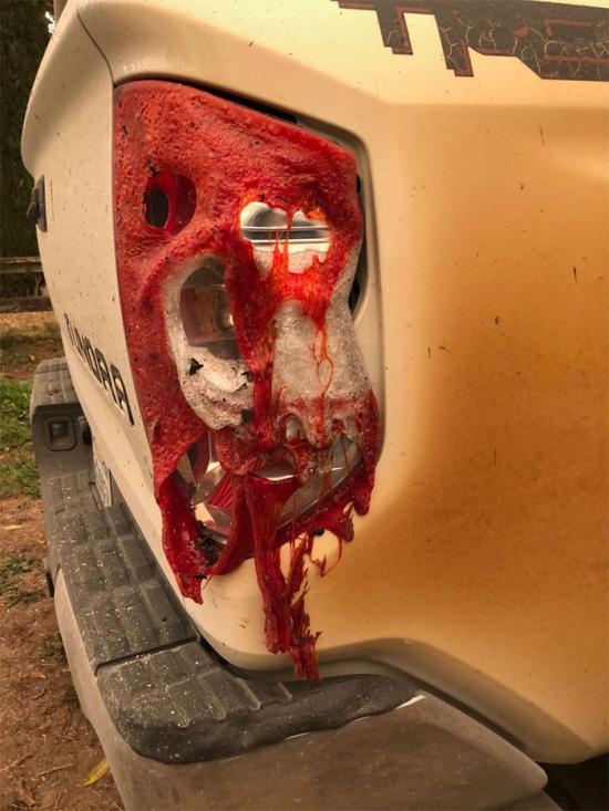 Автомобиль медбрата из Калифорнии, который спас множество жизней во время пожара (5 фото)